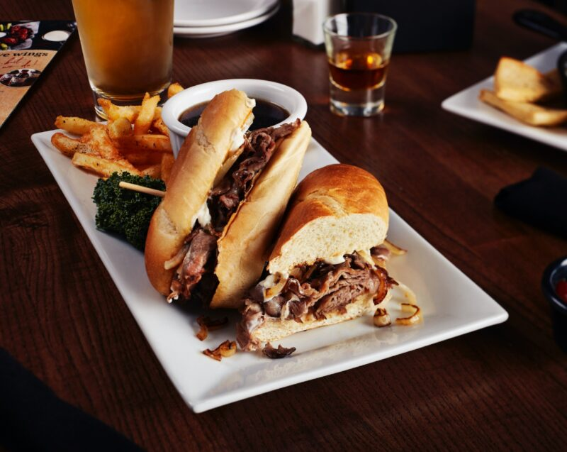 Big Whiskey's American Menu Lunch French Dip Sandwich