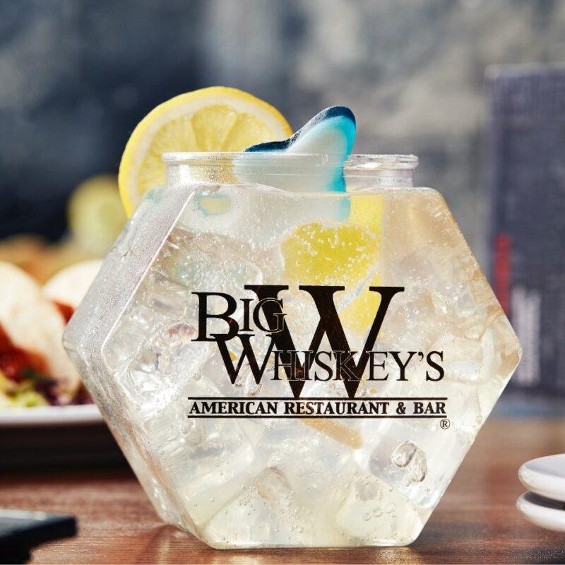 Big Whiskey's American restaurant and bar drink menu.